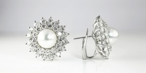 Diamond_Pearl Earrings